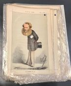 A group of originals and repros Vanity Fair chromolithographies caricatures of Victorian