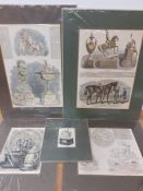 """A collection of prints depicting Ascot race's cups and prizes, comprising """"The Royal Hunt Cup"""" ("""