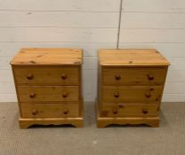 A pair of Pine Bedside Tables