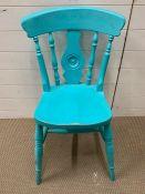A Painted chair in Aquamarine
