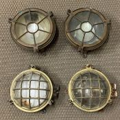 A Selection of Four Bulkhead lamps.