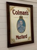 A Colmans adverting mirror