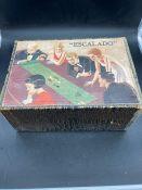 A vintage Escalado Chad Valley game, partially boxed,