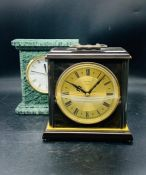 Two mantle/desk clocks