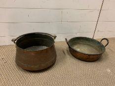 Two Vintage Copper Pots