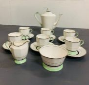 Art Deco tea set by Plant -Tuscan china made in England