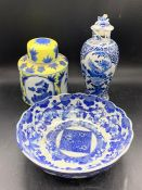 Three items of late 19th Century early 20th century Chinese china.