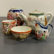 A selection of 19th Century Chinese ceramics.