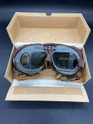 A Boxed set of WWII RAF Flying Goggles Mk. VIII
