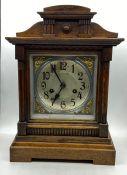 An Eight Day Oak cased mantle clock