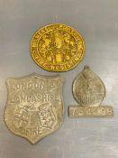 Three vintage plaques
