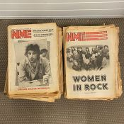 Eighty vintage melody marker and NME magazine/newspapers with some amazing front pages 70's and 80's