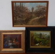 A group of paintings, signed and framed (3)