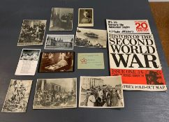 A Selection of WWII German and Soviet postcards