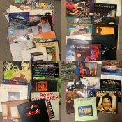 A mixed selection of records, Led Zeppelin, Beatles, David Bowie, Donna Summer, Queen, etc