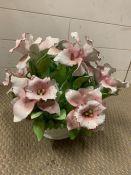 A bone china flower basket (36cm x 34cm)