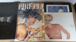 A collection of 4 Calendars by 'Pirelli' (1985-1986), 'Amateur Photographer' (1984) signed by Jhon