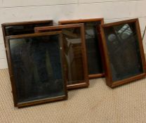 A selection of five display cases