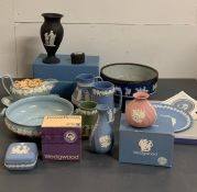 A collection of Wedgewood Jasperware