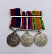 An RAF Medal Group Defence Medal, War Medal, Long Service Medal (Flight Sgt T H L Hankin)