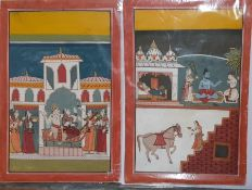 A pair of INDIAN Kota school miniature paintings, (25.5x17 cm each). Provenance: From the Sidhu