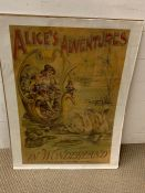 A poster of Alice's Adventures in Wonderland