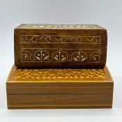 Two inlaid cigarette boxes