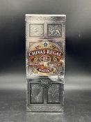 A bottle of Chivas Regal Premium Scotch whisky