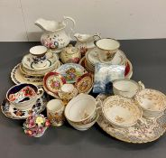 A Large volume of various china, plates, teacups and saucers from various makers and years of