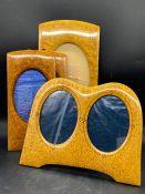 A Selection of Burr Walnut photo frames.