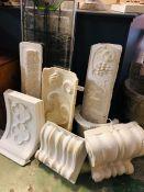 A Selection of Vintage Decorative plaster Mouldings