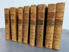 The Complete works of William Shakespeare in leather binding.