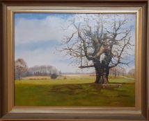 """Linda Wallis (act.XX), """"Sweet chesnut"""", signed, oil, framed. (34x44 cm)"""