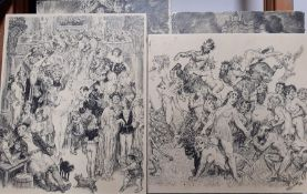 A group of four prints after Norman Lindsay, (4)