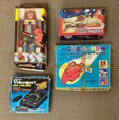 Four Retro boxed toys to include Gatchamam Battaglia God-Phenix, Ro Gun RGX-V1, Videosport 800-