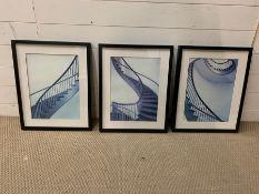 A trio of architectural design posters