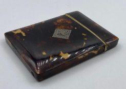 A Tortoiseshell card case