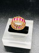 An 18ct gold ruby ring.