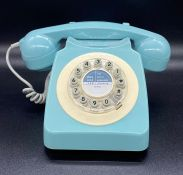 A push button version of the old dial telephone