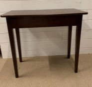 A mahogany side table (H64cm W71cm D37cm)