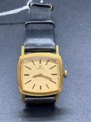 A Ladies Square Faced Vintage Omega watch