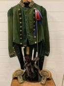 An Early 19th century Kings bodyguard for Scotland court dress for a gentleman. comprising of