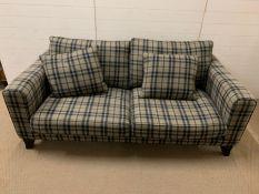 A John Sankey Voltaire classic shape two seater sofa (H68cm W190cm D103cm)