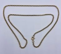 A 9ct gold necklace (4.1g + 50cm L )