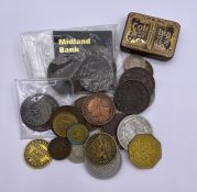 A small selection of various coins