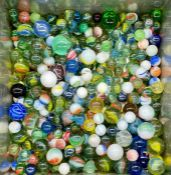 A Large selection of marbles, contemporary and vintage