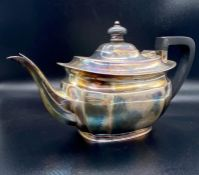 A Silver teapot (Total weight 620g) Sheffield 1927 hallmark and made by Atkin Brothers.