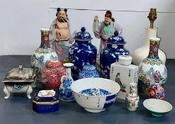 A Large selection of Chinese ceramics, various periods, designs and conditions.