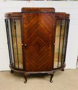 A mahogany cabinet by B E Strump of Scotland ( 115cm L x 35cm D x 126cm H )
