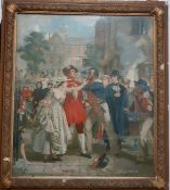 A print after Alexander Johnston, 'The Press Gang', framed and glazed (51x44 cm).